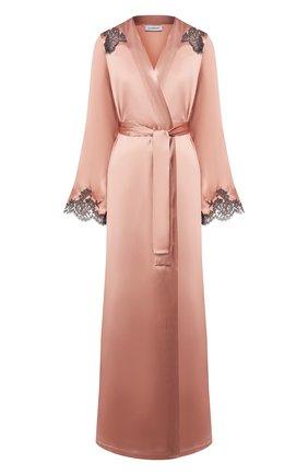 Женский халат с поясом I.D. SARRIERI розового цвета, арт. L4871_FW19_фв19 | Фото 1
