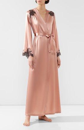 Женский халат с поясом I.D. SARRIERI розового цвета, арт. L4871_FW19_фв19 | Фото 2