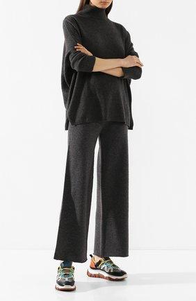 Женские кашемировые брюки NOT SHY серого цвета, арт. 3501032C | Фото 2