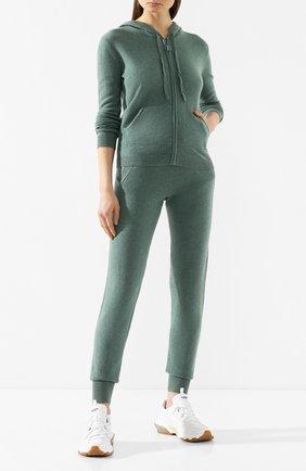Женские кашемировые джоггеры NOT SHY зеленого цвета, арт. 3501008C | Фото 2