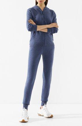 Женские кашемировые джоггеры NOT SHY синего цвета, арт. 3501008C | Фото 2