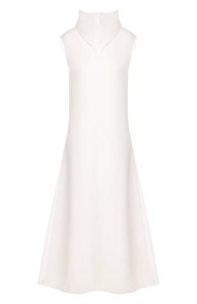 Женское шелковое платье THE ROW белого цвета, арт. 4772W1281 | Фото 1 (Статус проверки: Проверена категория; Материал подклада: Шелк; Материал внешний: Шелк; Рукава: Без рукавов, Короткие; Длина Ж (юбки, платья, шорты): Миди; Случай: Повседневный)