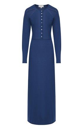 Женское платье из смеси вискозы и льна LEMAIRE синего цвета, арт. W 194 KN426 LK077 | Фото 1