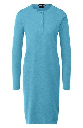 Женское платье из смеси кашемира и шелка TOM FORD синего цвета, арт. ACK230-YAX087 | Фото 1