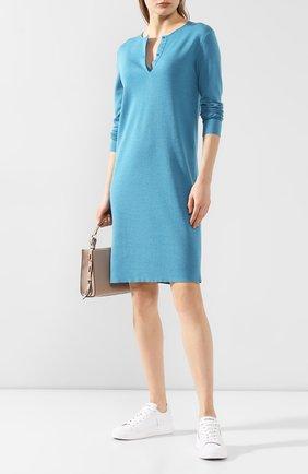 Женское платье из смеси кашемира и шелка TOM FORD синего цвета, арт. ACK230-YAX087 | Фото 2