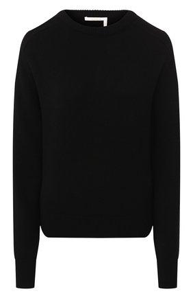 Женская кашемировый пуловер CHLOÉ черного цвета, арт. CHC20SMP35500 | Фото 1
