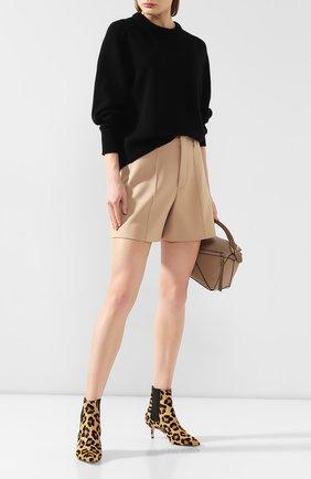 Женская кашемировый пуловер CHLOÉ черного цвета, арт. CHC20SMP35500 | Фото 2