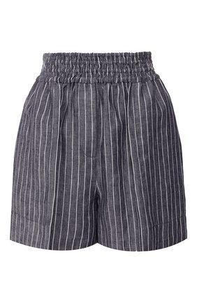 Женские льняные шорты BRUNELLO CUCINELLI темно-синего цвета, арт. MF586P7213 | Фото 1