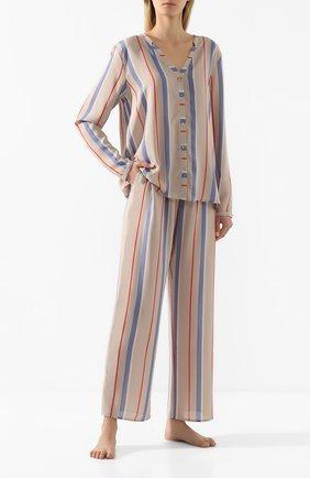 Женские брюки из вискозы HANRO разноцветного цвета, арт. 077617 | Фото 2