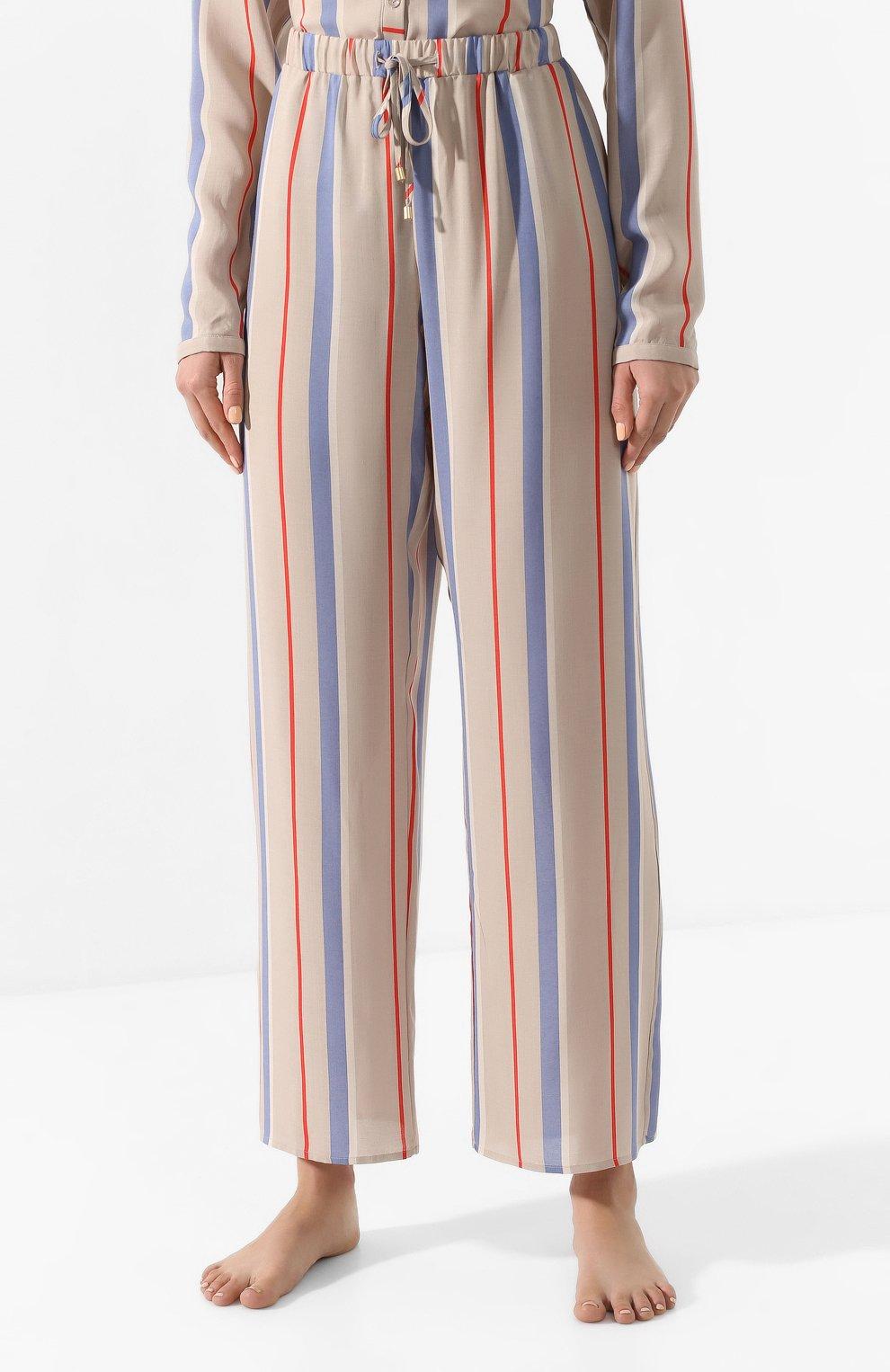 Женские брюки из вискозы HANRO разноцветного цвета, арт. 077617 | Фото 3