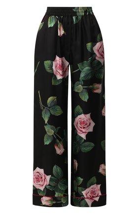 Женские шелковые брюки DOLCE & GABBANA черного цвета, арт. FTAMPT/HS190 | Фото 1