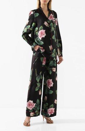 Женские шелковые брюки DOLCE & GABBANA черного цвета, арт. FTAMPT/HS190 | Фото 2