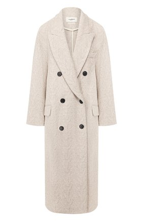 Женское шерстяное пальто ISABEL MARANT ETOILE кремвого цвета, арт. MA0699-20P008E/0JIMA   Фото 1
