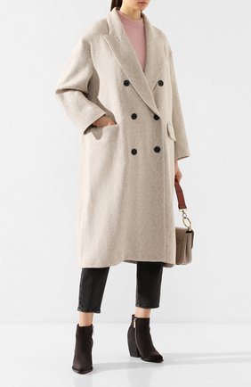 Женское шерстяное пальто ISABEL MARANT ETOILE кремвого цвета, арт. MA0699-20P008E/0JIMA   Фото 2