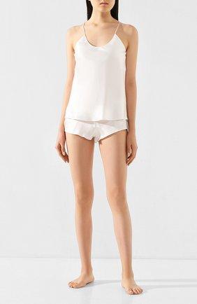 Женская шелковая пижама OLIVIA VON HALLE бежевого цвета, арт. CT0008 | Фото 1
