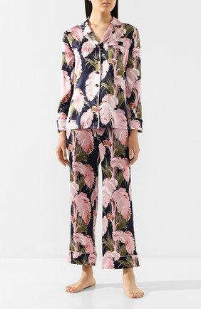 Женская шелковая пижама OLIVIA VON HALLE разноцветного цвета, арт. PS2010 | Фото 1