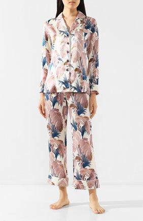 Женская шелковая пижама OLIVIA VON HALLE разноцветного цвета, арт. PS2011 | Фото 1