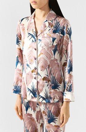 Женская шелковая пижама OLIVIA VON HALLE разноцветного цвета, арт. PS2011 | Фото 2