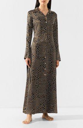 Женские шелковое платье OLIVIA VON HALLE разноцветного цвета, арт. PS2053 | Фото 2