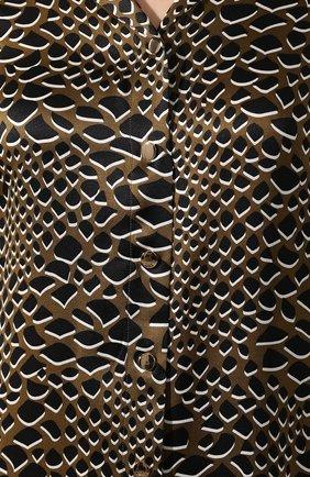 Женская шелковое платье OLIVIA VON HALLE разноцветного цвета, арт. PS2053   Фото 5 (Материал внешний: Шелк; Рукава: Длинные; Длина Ж (юбки, платья, шорты): Макси; Женское Кросс-КТ: Платье-белье; Статус проверки: Проверена категория)