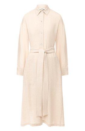 Женское платье из смеси хлопка и вискозы VINCE бежевого цвета, арт. V631251107 | Фото 1