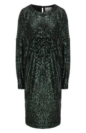 Женское платье с пайетками IN THE MOOD FOR LOVE зеленого цвета, арт. ELISA DRESS | Фото 1