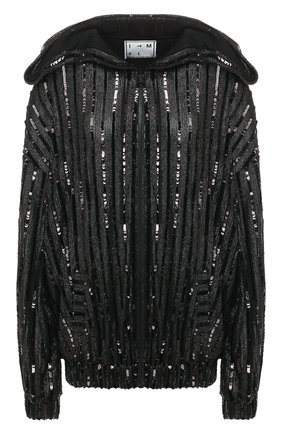 Женский кардиган с пайетками IN THE MOOD FOR LOVE черного цвета, арт. ELVIS JACKET | Фото 1