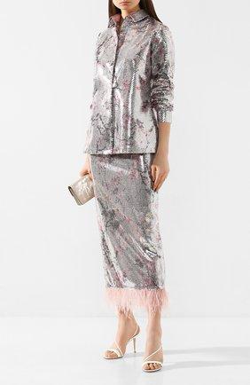 Женская юбка с пайетками IN THE MOOD FOR LOVE разноцветного цвета, арт. MICA SKIRT | Фото 2