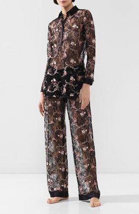 Женские кружевные брюки LA PERLA черного цвета, арт. 0044740 | Фото 2