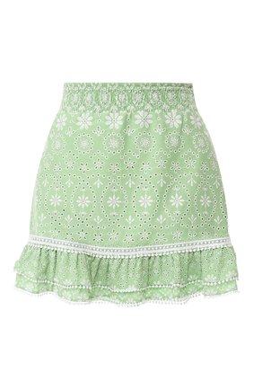Женская хлопковая юбка CHARO RUIZ IBIZA зеленого цвета, арт. 202400   Фото 1