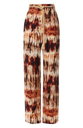 Женские брюки с поясом NANUSHKA разноцветного цвета, арт. GIADA_TIE DYE PRINT_CUPR0   Фото 1