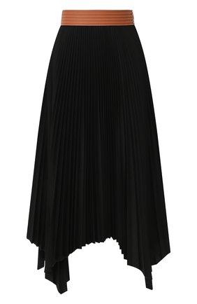Женская юбка LOEWE черного цвета, арт. S2105360FA | Фото 1
