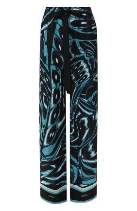 Женские брюки с принтом DIANE VON FURSTENBERG бирюзового цвета, арт. 13924DVF | Фото 1