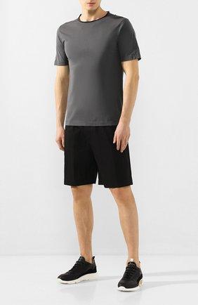 Мужские кожаные кроссовки MOMA черного цвета, арт. 4AS018-CT   Фото 2