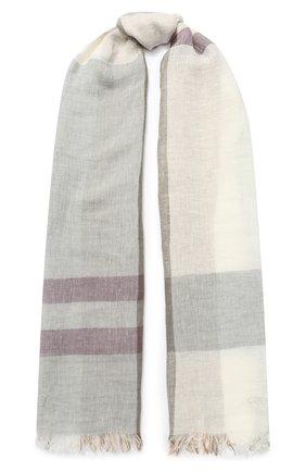 Мужской льняной шарф CORNELIANI бежевого цвета, арт. 85B229-0129018/00 | Фото 1