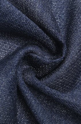 Мужской платок из смеси льна и шелка CORNELIANI темно-синего цвета, арт. 85UF50-0120392/00 | Фото 2