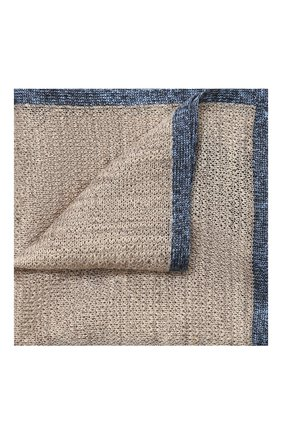 Мужской платок из смеси льна и шелка CORNELIANI бежевого цвета, арт. 85UF50-0120392/00 | Фото 1