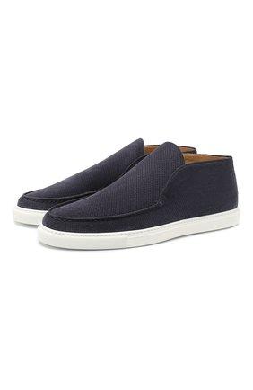 Мужские замшевые ботинки CORNELIANI синего цвета, арт. 85TM60-0120950 | Фото 1
