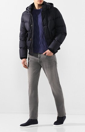 Мужские замшевые ботинки CORNELIANI синего цвета, арт. 85TM60-0120950 | Фото 2