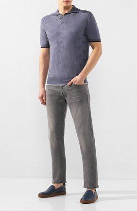 Мужское хлопковое поло CORTIGIANI синего цвета, арт. 819139/0000 | Фото 2