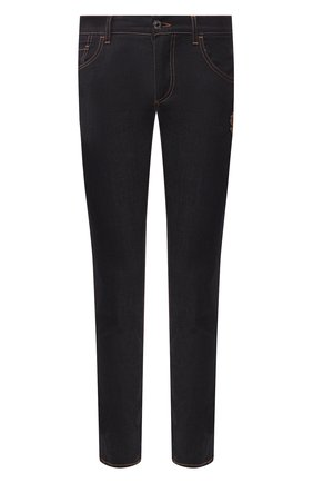 Мужские джинсы DOLCE & GABBANA темно-синего цвета, арт. GY07LZ/G8BY2   Фото 1