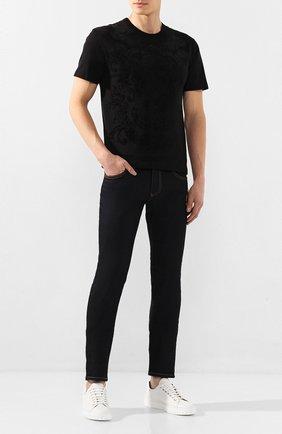 Мужские джинсы DOLCE & GABBANA темно-синего цвета, арт. GY07LZ/G8BY2   Фото 2