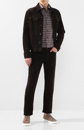Мужские замшевые кеды H`D`S`N BARACCO светло-коричневого цвета, арт. T0NY.20* | Фото 2