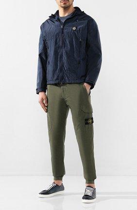 Мужская куртка STONE ISLAND синего цвета, арт. 721544135 | Фото 2