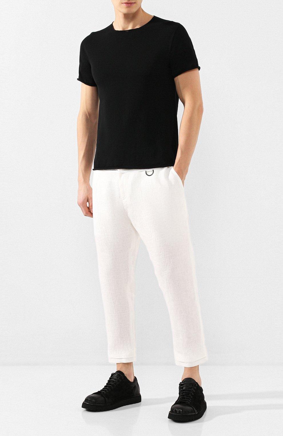 Мужские льняные брюки ISABEL BENENATO белого цвета, арт. UW43S20 | Фото 2