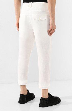 Мужские льняные брюки ISABEL BENENATO белого цвета, арт. UW43S20 | Фото 4
