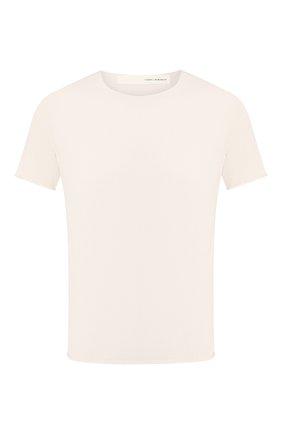 Мужская хлопковая футболка ISABEL BENENATO белого цвета, арт. UK03PS20 | Фото 1