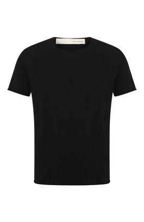 Мужская хлопковая футболка ISABEL BENENATO черного цвета, арт. UK03PS20 | Фото 1