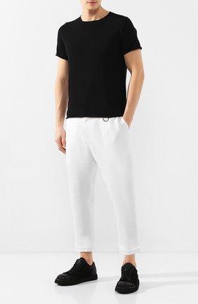 Мужская хлопковая футболка ISABEL BENENATO черного цвета, арт. UK03PS20 | Фото 2