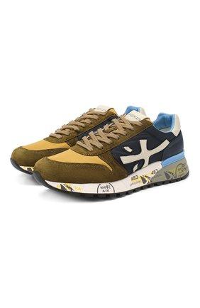 Мужские комбинированные кроссовки mick PREMIATA хаки цвета, арт. MICK/VAR4568 | Фото 1